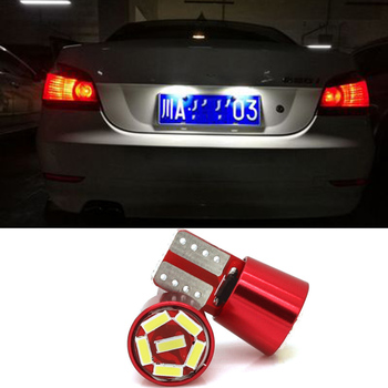 2x T10 W5W Canbus 4014 LED Car License Plate Lights for BMW E46 E39 E60 E90 E36 F30 E30 F10 E34 X5 E53 F20 M E87 X3 X1 E92 E70 image
