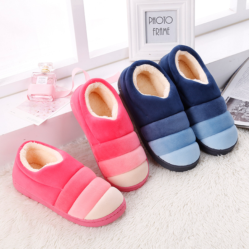Winter Indoor Home Non-slip Keep Warm Slippers Men Women Cover Heel Plush Thickened Cotton Shoes No Slip Flat Slipper прогулочная коляска carmella princess pink page 2