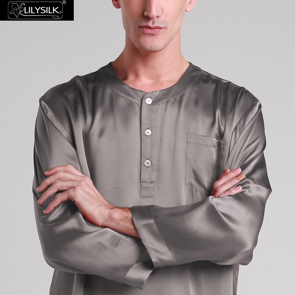 1000-dark-gray-22-momme-mens-silk-nightshirt-01