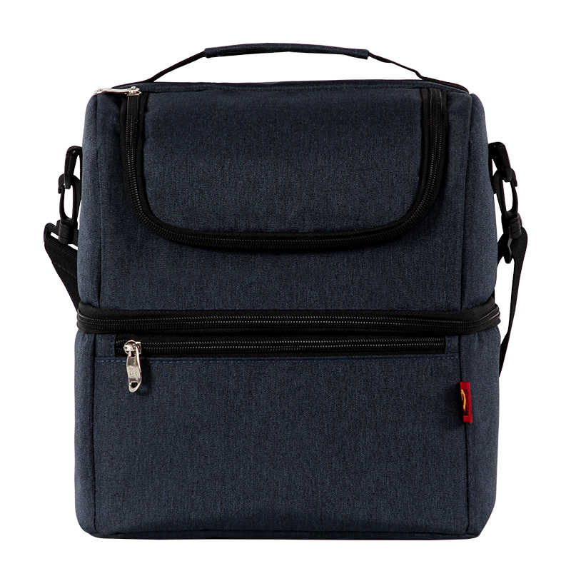 Double Lunch Bag Ice Pack Waterproof Leakproof Insulation Poke Multi-function Lunch Bag Fresh Thermal Picnic Bag Fashion Handbag