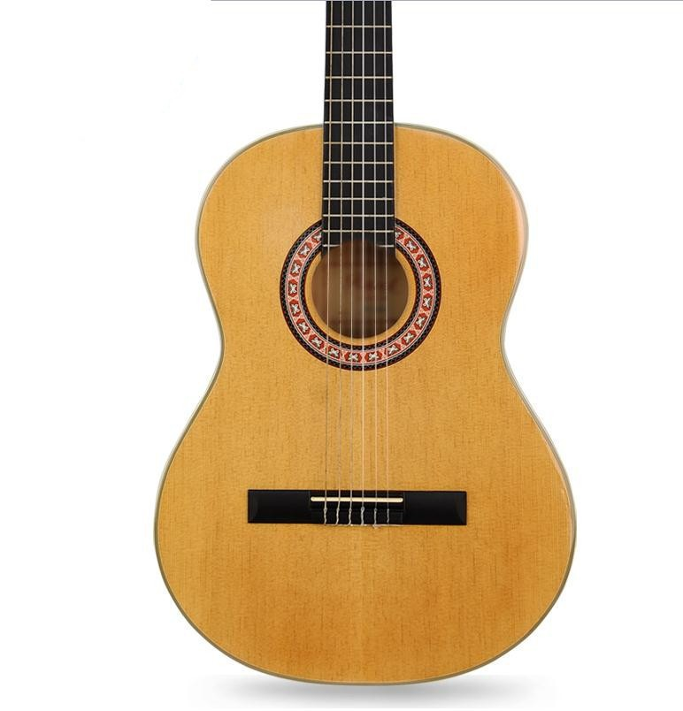 39 10 39inch high quality classical acoustic guitar fingerboard rosewood with guitar strings in. Black Bedroom Furniture Sets. Home Design Ideas