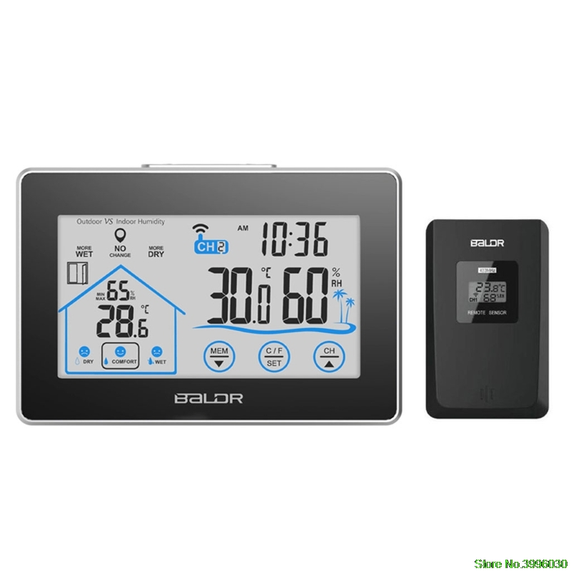 LCD Touch Screen Weather Station Displays Temperature Humidity Indoor Outdoor Sensor wtl0785d02 lcd displays screen