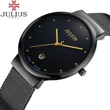 Or New Horloge or Mode Femmes montre Plein or Acier Inoxydable Dame Quartz Montre-Bracelet En Gros Julius montre En Or Femmes