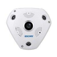 Escam qp180 occhio di pesce telecamera ip hd 960 p vr wifi della macchina fotografica 1.3mp h.264 motion detection cctv ip cam ir notte vison supporto vr BOX