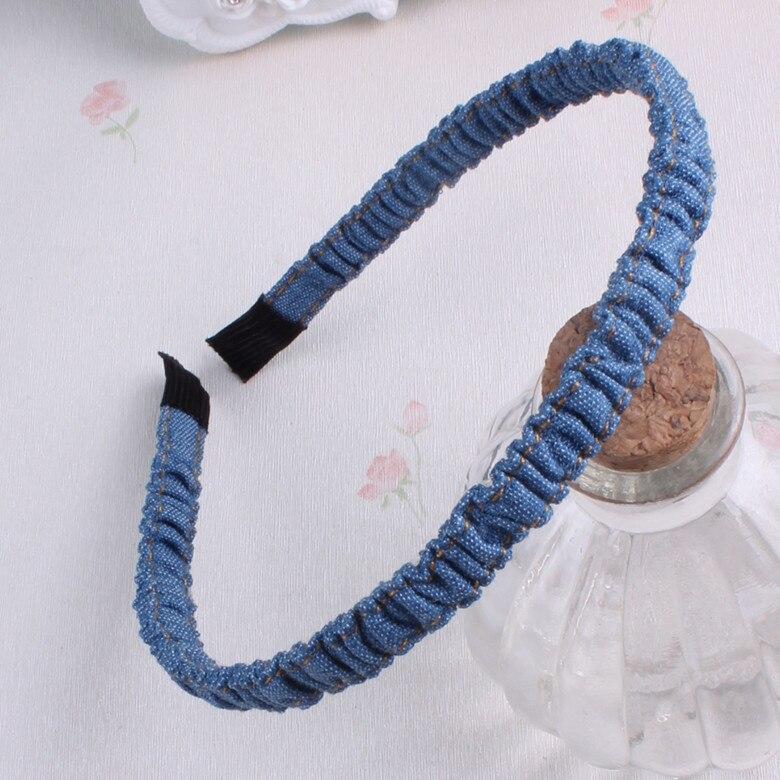 New denim retro plain elastične hairbands ženske dekleta trakovi za - Oblačilni dodatki