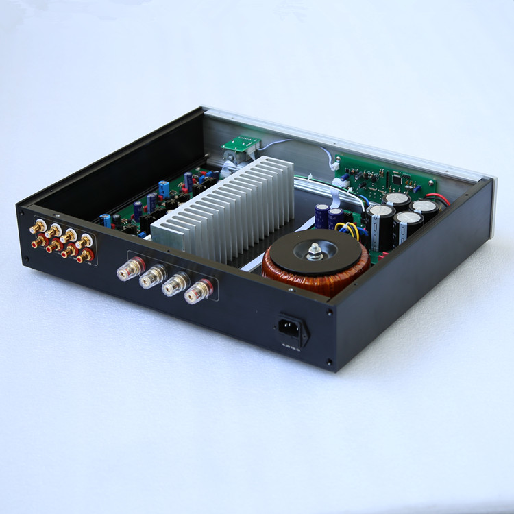 New N140 Remote Volume Integrated Amplifier / Four-way signal input selection Based on NAIM NAP140 Audio Power Amp 2016 new hifi nac152xs preamplifier diy kit base on naim pre amp for nap140