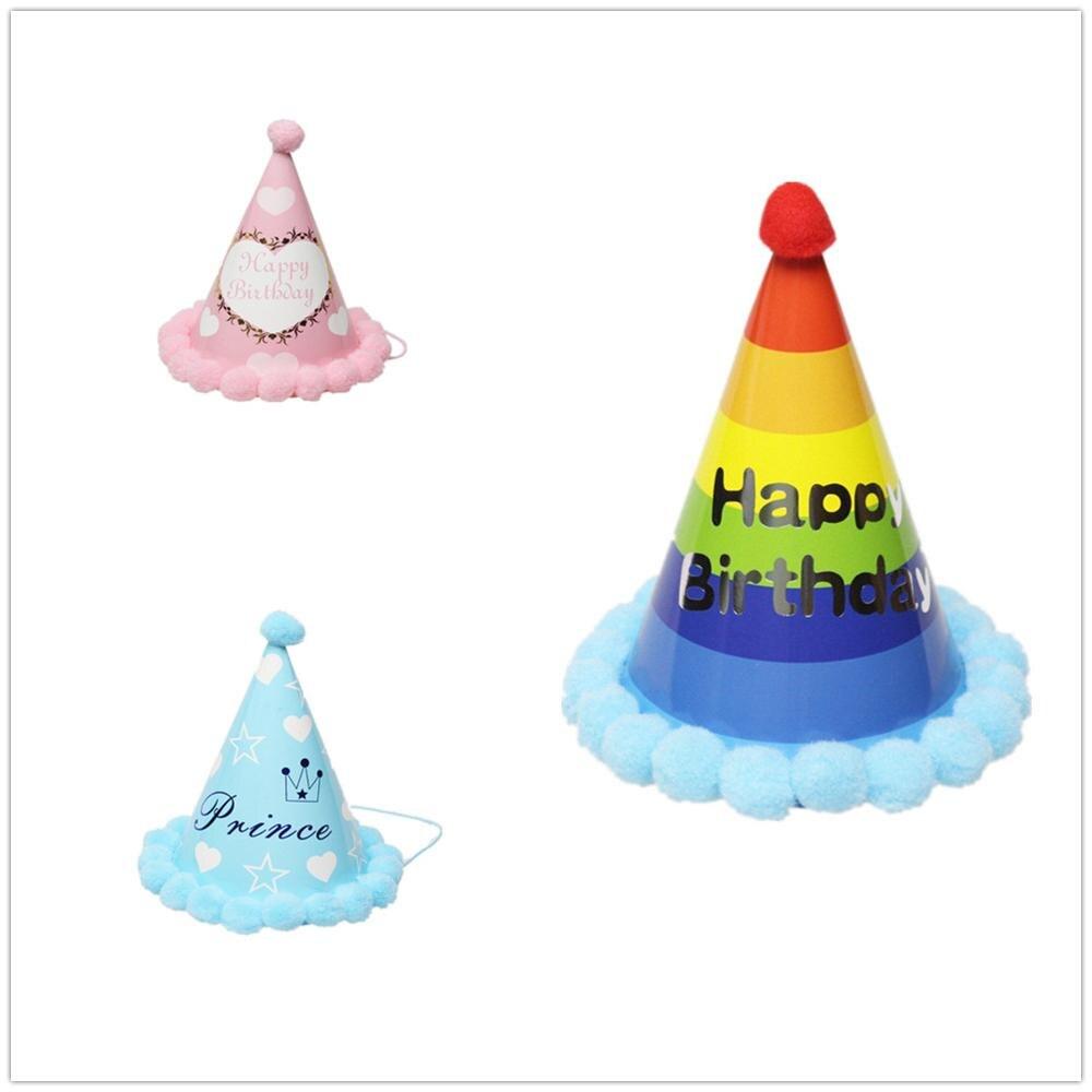 Шапка для дня рождения E doo с шапочкой помпоном украшение детского рождения|Шляпы