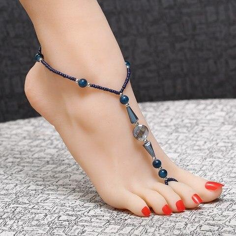 Geometry Foot Harness Barefoot Sandal Beach Anklets for Women Ankle Chain Bracelet Karachi