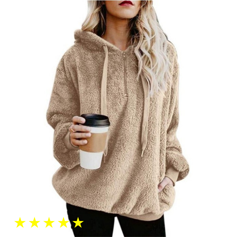 New Flannel Jumper Hooded Sweater Women Solid Color Plus Velvet Warm Women's Tops Coat Russian Hot 9 Colors Pullovers Mujer
