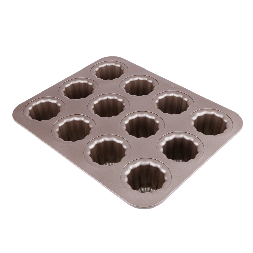 12 Cavity Muffins Pan Biscuit Puff Baking Cake Mold Kitchen accessaries Non stick Pastry Tools Die Baking Tray Pastry Tools