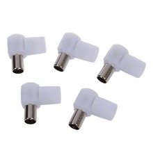 5 pieces 9.5mm connector right angled for antennas TV RF coaxial plug adapter