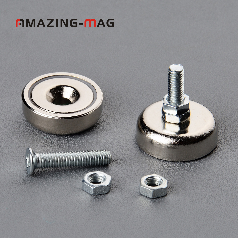 CMS Magnetics® 16 LB Holding Power Neodymium Cup Magnet w// Male Threaded Stud