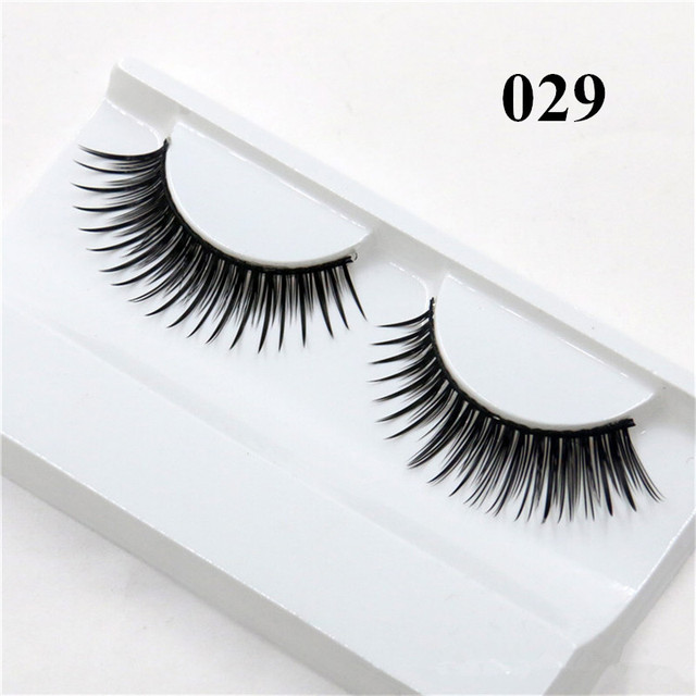 1 Pair False Mink 3D Eyelashes Natural Eyelash Extensions Cruelty Free Mink Lashes Eye Makeup Tools 1