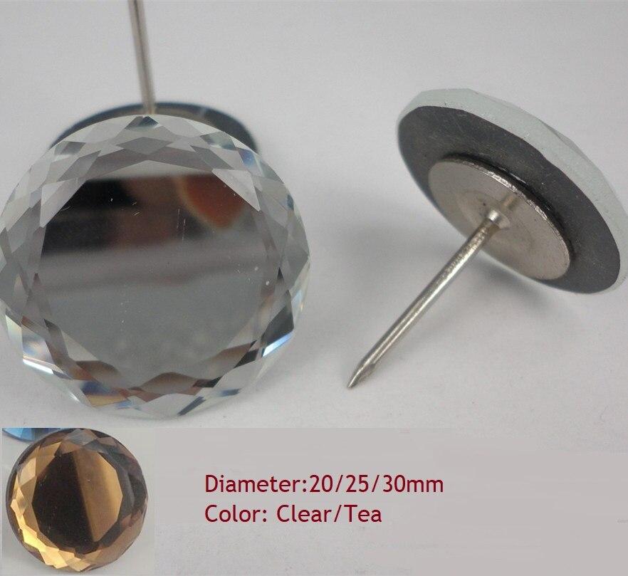 50 Stks/partij Platte Crystal Bekleding Sofa Hoofdeinde Knoppen Pin Tack Diamond Studs Muur Decor Meerdere Opties