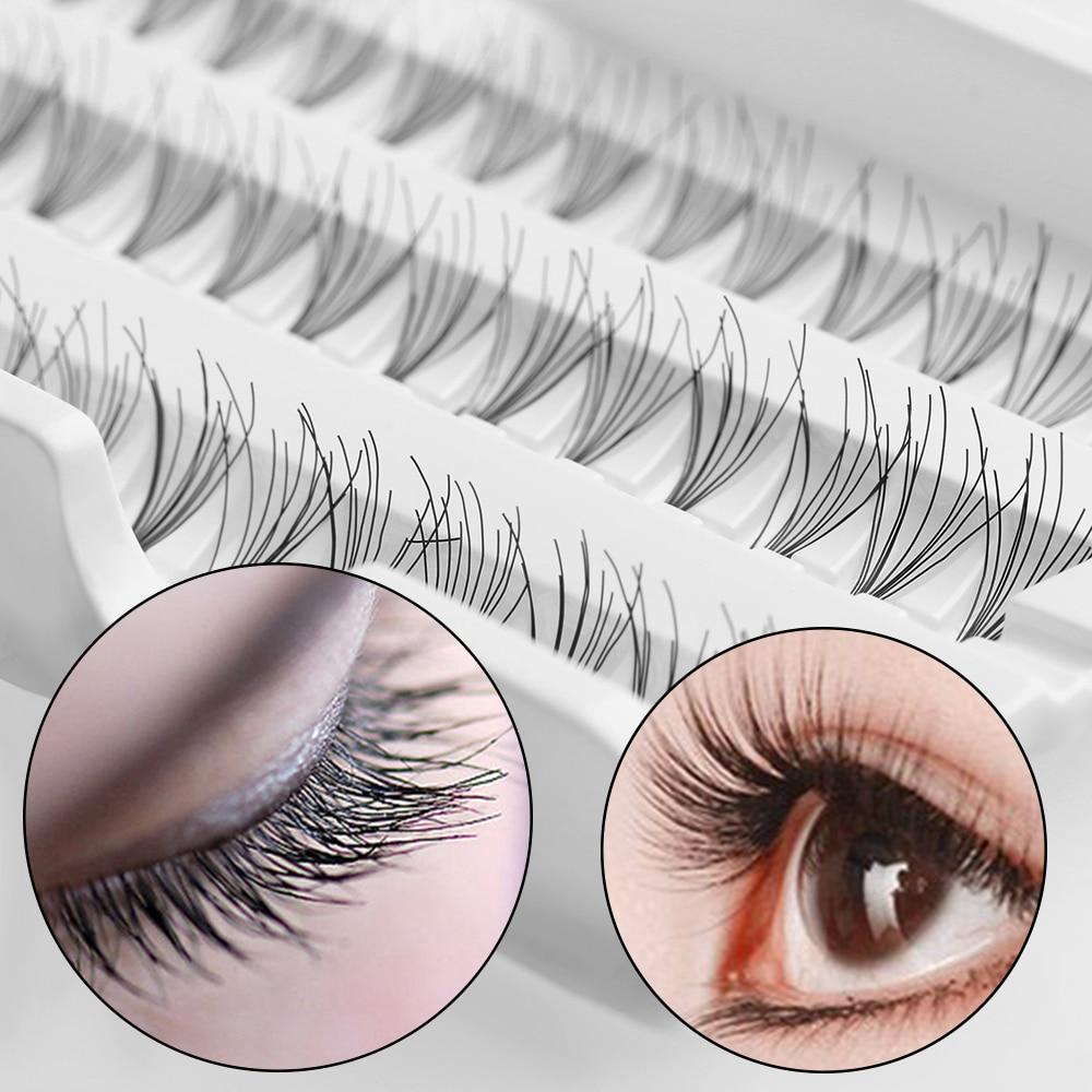 0b438a9b43f 8/10/12MM 60 Individual Fake False Eyelashes Cluster Black Eye Lashes  Extension Makeup Cosmetic Beauty Tools maquiagem