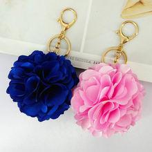 Милые Брелоки для ключей из ткани с цветами ручной работы цветные