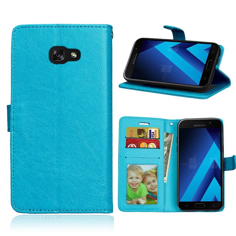 Για samsung A5 2017 Fundas For Galaxy a5 2017 Flip Leather Case για Samsung Galaxy A5 2017 Book Style Standing Wallet Phone Capa