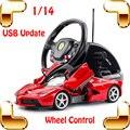 Chegada nova presente 1/14 RC grande corrida de rodas Roadster de simulação de carro de controle carros modelo de cobrança brinquedos elétricos USB carro grande