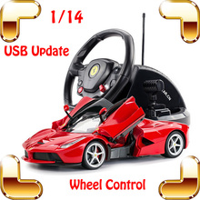 New Arrival Gift 1/14 RC Large Racing Roadster Wheel Control Car Simulation Model Cars Collection Electric Toys USB Big Car