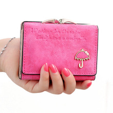 12PCS / LOT New Female Wallet Cute Patterned Design PU Leather Mini Small Clutch Women Coin Purse Short Handbag