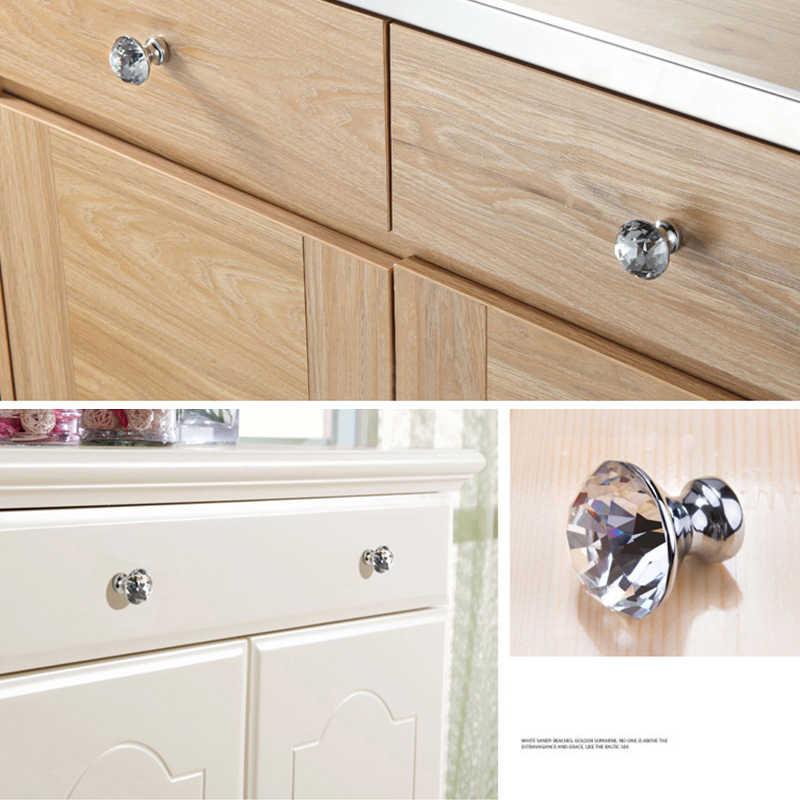 Kak 30mm Kitchen Cabinet Handles Diamond Shape Design Crystal Glass Knobs Cupboard Pulls Drawer Knobs Furniture Handle Hardware Cabinet Pulls Aliexpress