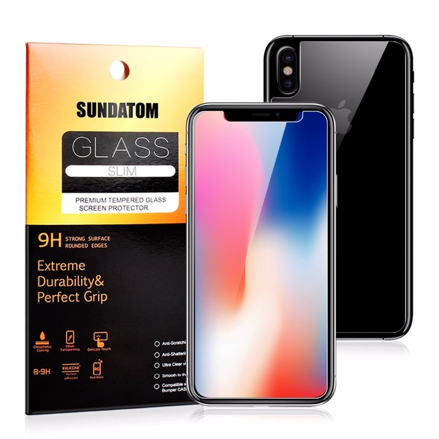 Screen Protector for iPhone X  Front and Back Tempered Glass Anti-Explosion Knife key Proof Premium Glass Film