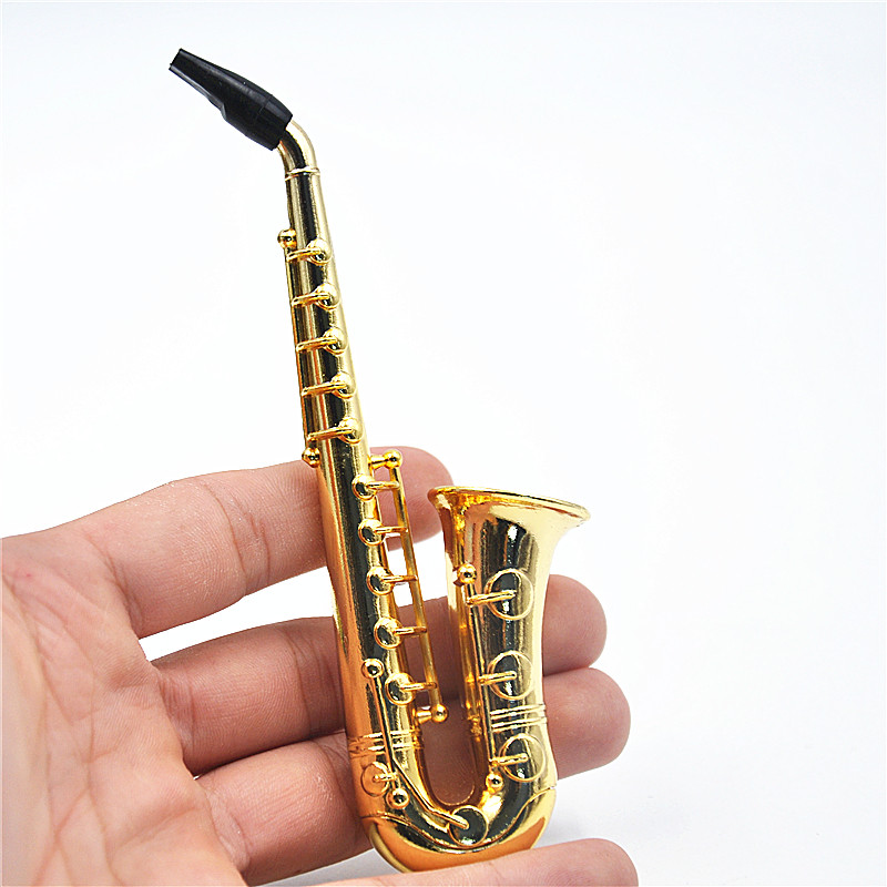Two Style Small / Big Reggae Saxophone Shaped Metal s