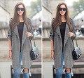 Burderry Mulheres Casaco Saia Para As Mulheres Novo Top Ponto Aberto Para 2016 E No Outono Grande Código Mm No Longo Casaco de Lã Blusão vestido
