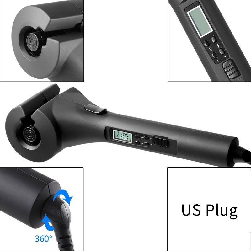 Lcd Automatic Hair Curler Digital Hair Styling Tools Electric Styler Wave Hair Curling Iron Us Plug