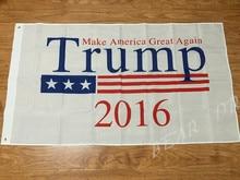 Donald Trump President 2016 Flag 3×5 FT 150X90CM Banner 100D Polyester Custom flag grommets .free shipping