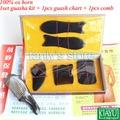 Comercio al por mayor y Al Por Menor Tradicionales Acupuntura Masaje duro caja kit Gua Sha 5 unids/set + 1 unids carta guasha + 1 unids peine 100% del cuerno del buey
