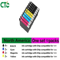 10 Set T2001 T200 Xl Compatible Ink Cartridge For Epson XP 100 XP 200 XP 310