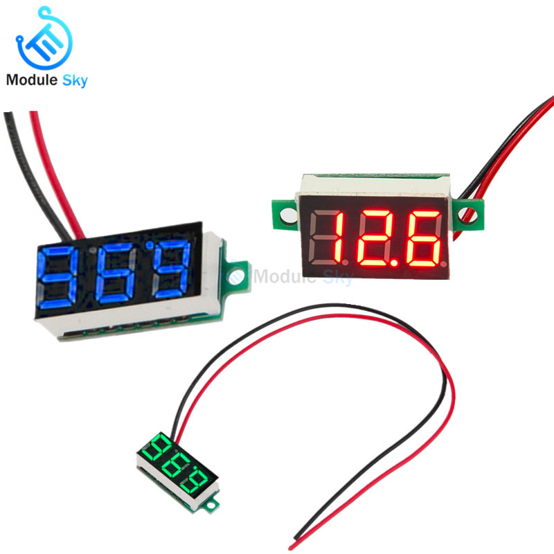 2-wire 0.36inch Mini Digital Voltmeter DC 4.7-32V LED digital display voltage tester Red Blue Green 2-wire 0.36inch Mini Digital Voltmeter DC 4.7-32V LED digital display voltage tester Red Blue Green