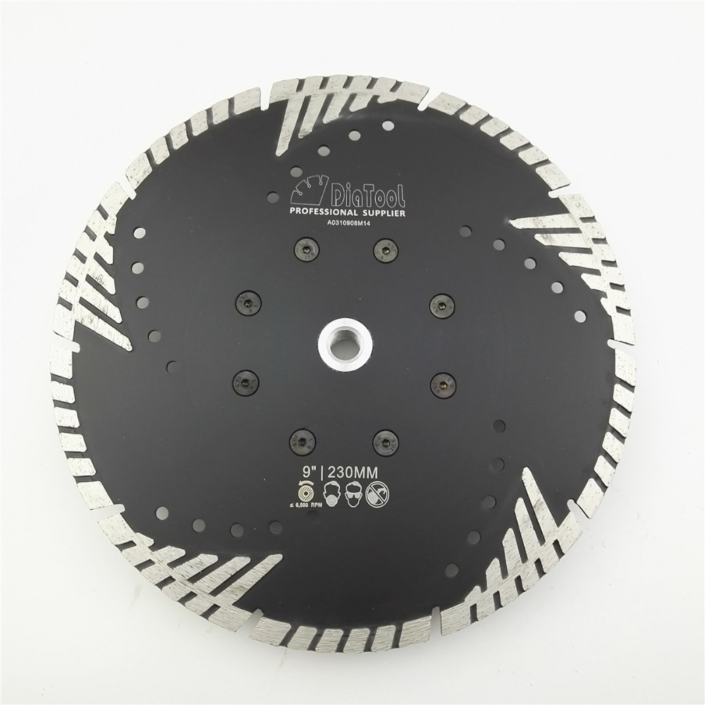 DIATOOL 230mm Hot pressed Diamond turbo Blade with Slant protection teeth  9 Diamond Blades for stone concrete cutting with M14 96pcs 130mm scroll saw blade 12 lots jig cutting wood metal spiral teeth 1 8 12pcs lots 8 96pcs