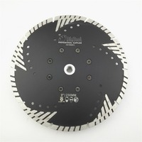 1pc 230mm Hot Pressed Diamond Turbo Blade With Slant Protection Teeth 9 Diamond Blades For Stone