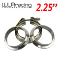 "WLR STORE-  2.25"" V Band clamp flange Kit (Stainless Steel 304 Clamp+SUS304 Flange) For turbo exhaust downpipe"