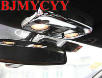 BJMYCYY Free shipping 1pc ABS chrome car styling sticker Reading light panel decoration Cover Sequins for 2015 2016 ford mustang