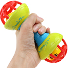 <+>  Безопасные силиконовые погремушки Колокольчики Детские игрушки Встряхивающие гантели Игрушки для ран ✔