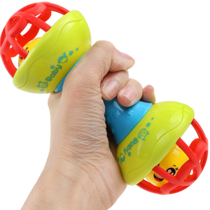Safe Silicone Rattles Bells Baby Toy Sha