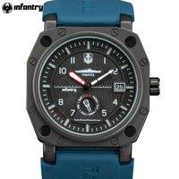 Da INFANTARIA Homens Relógios Montre Homme Luxo Analógico Esporte Militar Relógio de Quartzo Masculino Relógios Luminosos do Mundo De Navio TIRPITZ