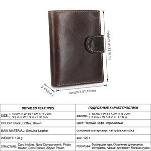Image 2 - MISFITS Vintage Men Wallet Genuine Leather Short Wallets Male Multifunctional Cowhide Male Purse Coin Pocket Photo Card Holder