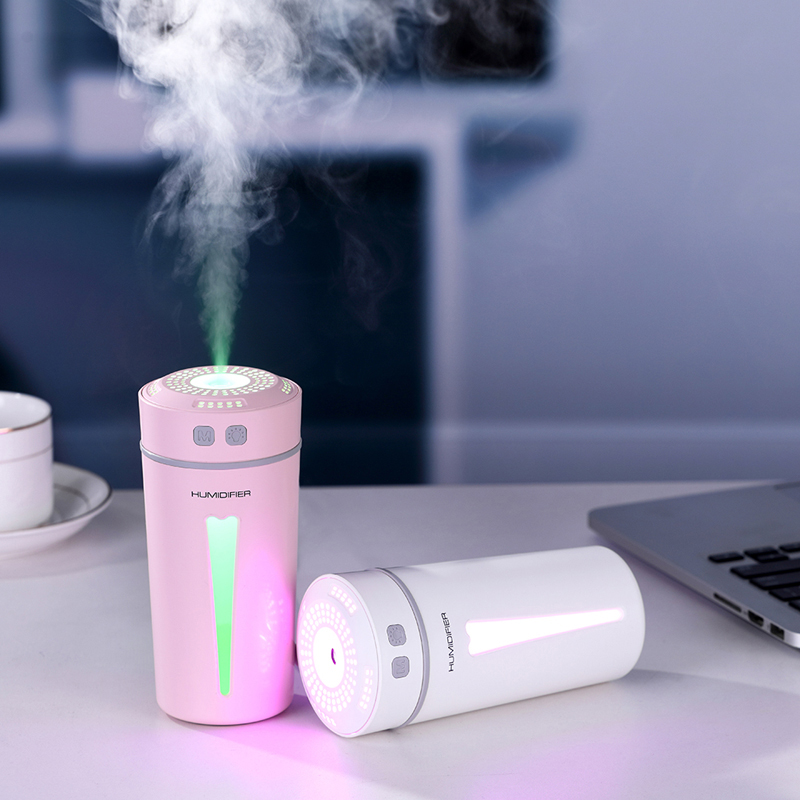 260ML Cup Shape USB Air Humidifier Mute Design Aroma Essential Oil Diffuser With Colorful Night Light Function