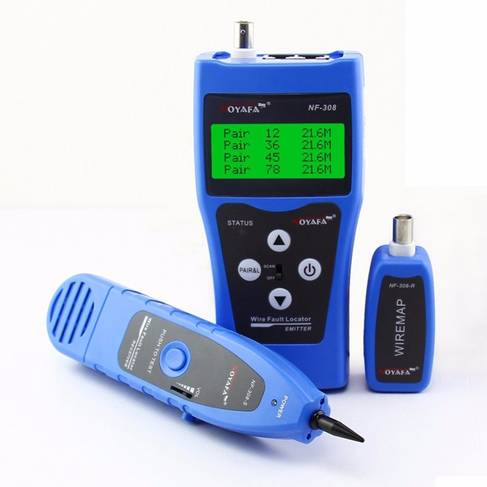 NOYAFA NF-308 multi-usages LCD affichage réseau téléphone câble testeur Tracker ligne Finder fil testeur câble localisateur