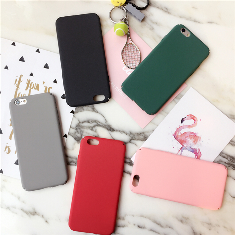 Candy Coque For Apple iphone 6 6s plus Case For iphone 7 plus Cases Simple Fashion Plastic Hard Cover Phone Back Full Protective