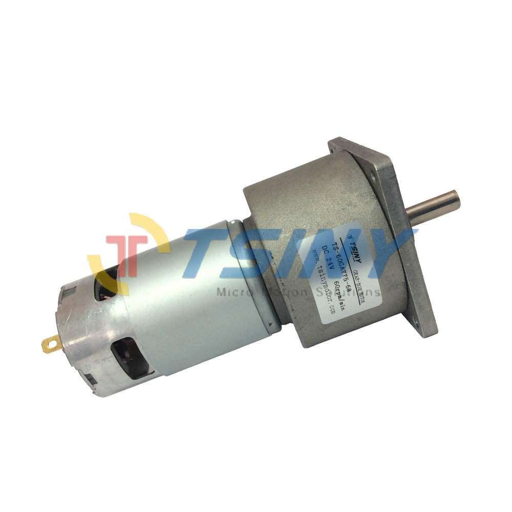DC 24V Spur Gear Motor 60rpm with Metal Gear Box ,free shipping