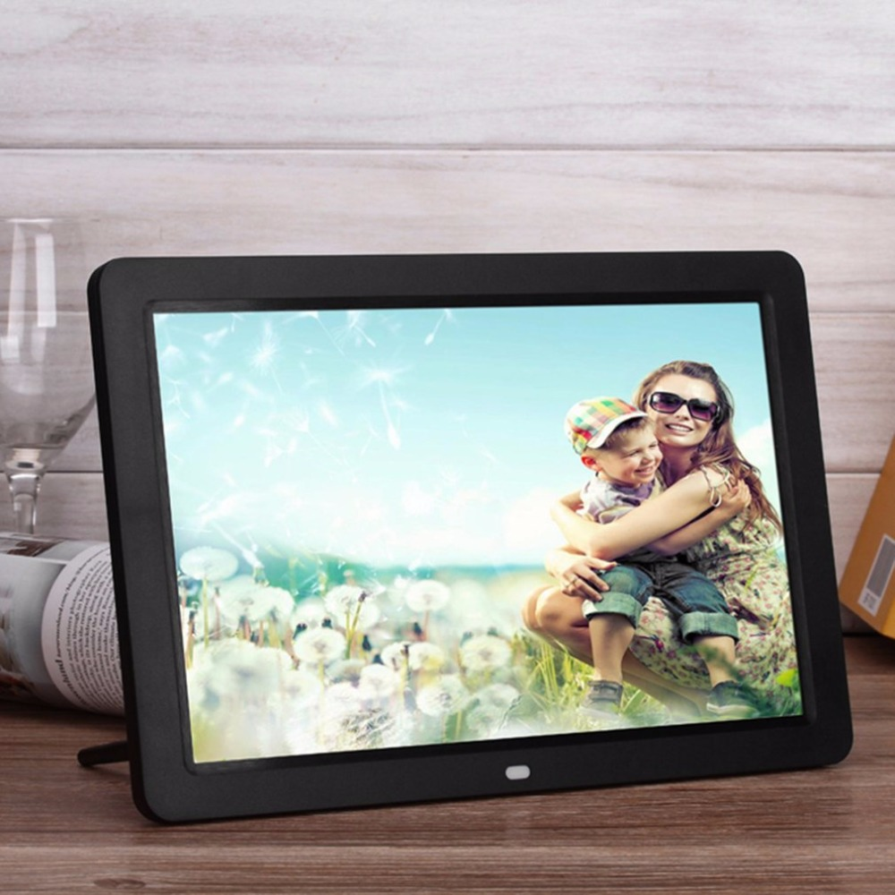 Multifunctional Digital Frame With Full Featured Wireless Remote 12 Lcd Screen