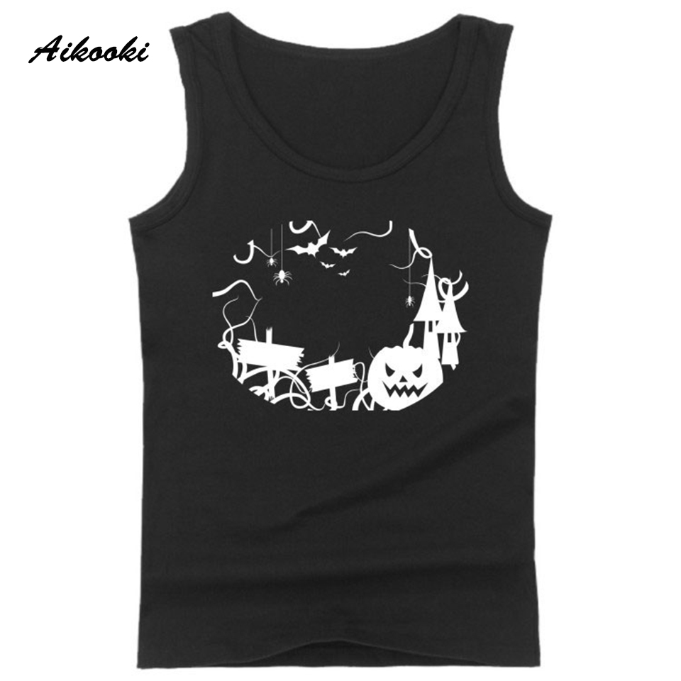 Halloween Pumpkin Harajuku Vest Men Women Casual Sleeveless Men's   Tank     Tops   Hip Hop Summer   Tank     Tops   Men Fashion Vest Man   Tops