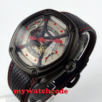 271a93f2f120 45mm Corgeut Hollow Dial Three Dimensional Dial PVD Miyota Automatic Mens  Watch