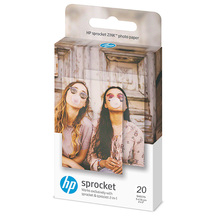 20 Sheets Zink Photo Paper 5*7.6cm for HP Sprocket Photo Printer Without Ink Back Paste Adhesive Easy To Print Photo DIY цена и фото