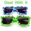 Minecraft Óculos Lidar com isso 8 bits Pixel Mosaico Óculos de Sol Dos Homens Das Mulheres Óculos De Sol Femininos Masculinos crianças Das Meninas Dos Meninos Do Vintage